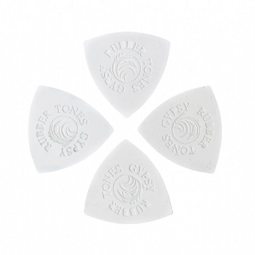 Rubber Tones Gypsy - White Silicon - 4 Picks | Timber Tones